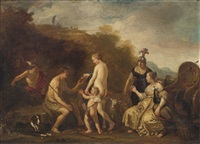the judgement of paris by claes cornelisz moeyaert