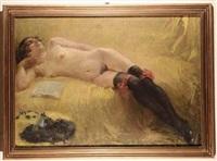 nudo femminile disteso by cipriano mannucci