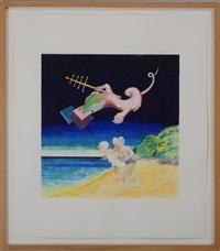 the daily swim 7 august 1982 by lucio pozzi