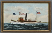 portrait of the screw steamer