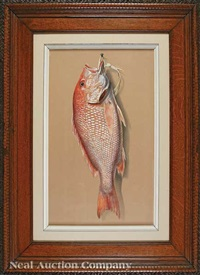 nature morte: red snapper by achille perelli
