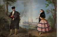 pareja de andaluces (pair) by manuel cabral aguado bejarano