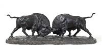 kämpfende bisons by franz iffland