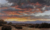 desert landscape at sunset by grant macdonald