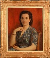 portrait de femme by louis buisseret
