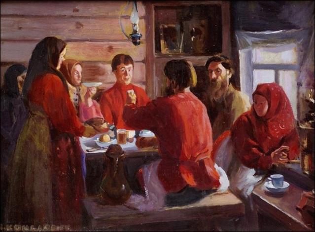 ruokapöydässä by ivan semionovich kulikov