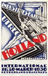 industries-fair utrecht holland 1930 by pieter a.h. hofman