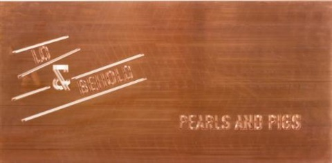 pearls and pigs by lawrence weiner