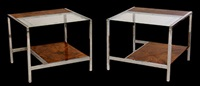 end tables by milo baughman