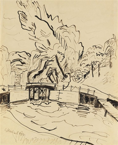 die mellingburger schleuse by erich heckel