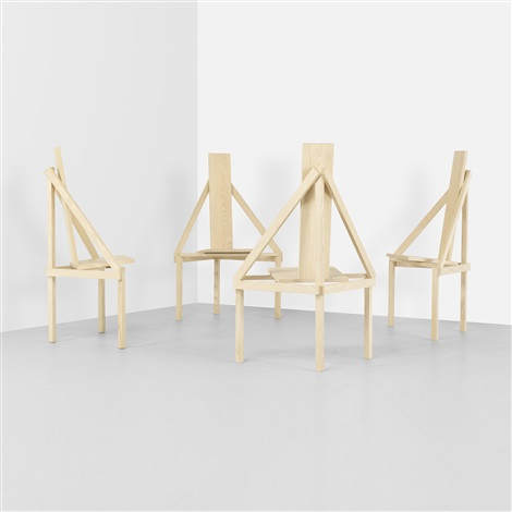 a chairs set of 4 by steven holl