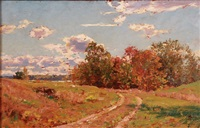 expansive landscape with trail by walter launt palmer