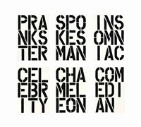 black book (set of 17) by christopher wool