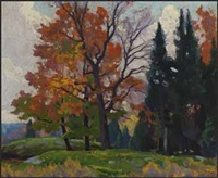 edge of the woods near minden by frederick stanley haines