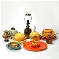 lamps, vases, bowls and dishes (17 works) by kähler pottery (co.)