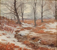 winter landscape by hal robinson