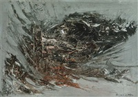 ohne titel (informelle komposition) by siegfried reich an der stolpe