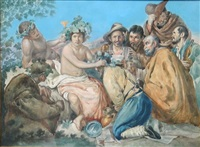 peasants bacchanalia by giovanni battista filosa