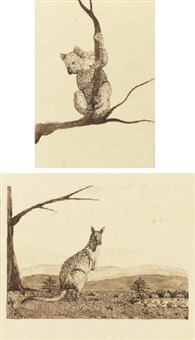 koala bear (+ 5 others; 6 works) by henry edward bunbury