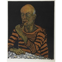 portrait of a man by alice neel