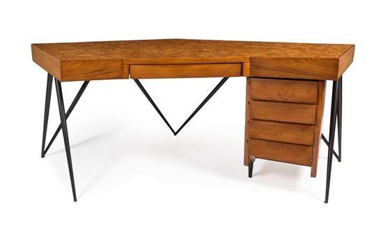 An Andre Sornay Burlwood Desk By André