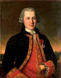 portrait de gentilhomme au gilet rouge by gaspare traversi