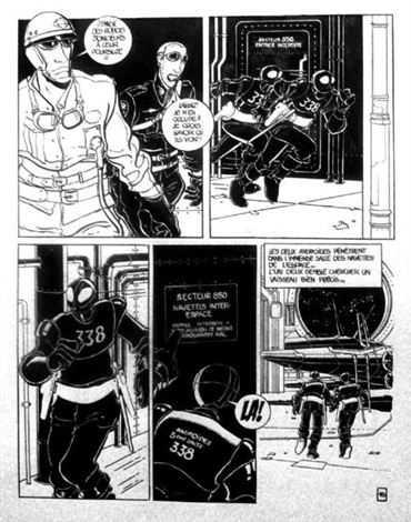 captain futur planche 16 for album by serge clerc