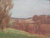 dalry landscape in winter by george houston