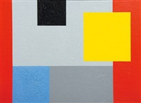abstract with geometric shapes by albert newall
