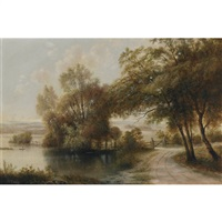 a riverside path by henry nesbitt mcevoy