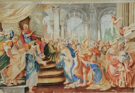 scene dellantico testamento pair by giulio romano