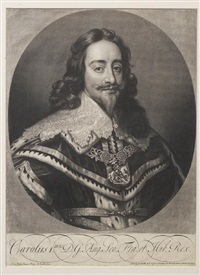 charles i (after sir anthony van dyck) by john smith