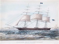 clipper ship nightingale by nathaniel currier