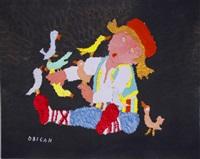 boy with birds by jovan obican
