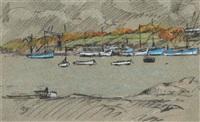 barques au port by pierre brette