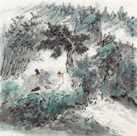 林中对弈 by gu ping