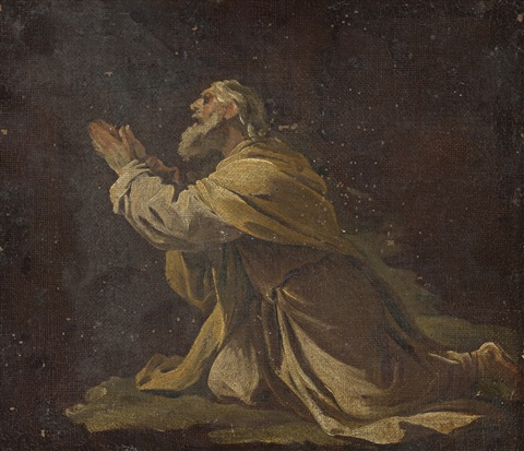 abraham in prayer by luca giordano