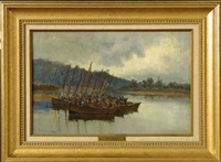boats at rest by william adam