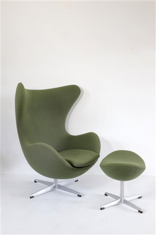 Sessel Mod 3317 Egg Chair Mit Ottomane Mod 3127 By Arne Jacobsen