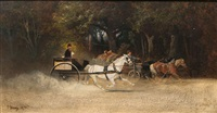 carriage ride by hans (johann) haag