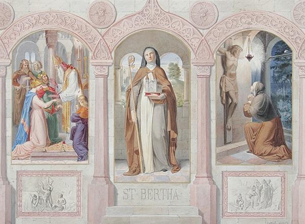 st bertha bertha von blangy tochter des grafen rigobert und gründerin des klosters blangy bei arras by eduard luttich