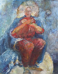 seated female figure by genevieve cotter