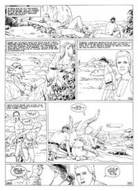 mondes d'aldébaran, tome 2, la blonde, planche 35 by léo