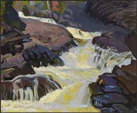 falls near abitibi by frederick stanley haines