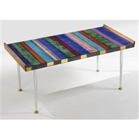 a coffee table by doris hall