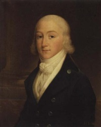 a portrait of louis charles d'orléans wearing a blue frock coat and a white waist-coat by albertus jacob frans gregorius
