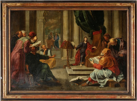 jesus undervisar i templet by willem van herp the elder