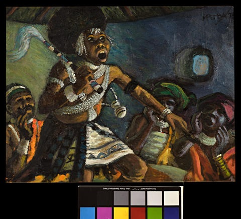 Sangoma by George Mnyalaza Milwa Pemba on artnet