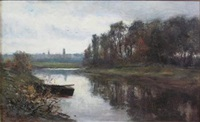 view of the river near aberdeen by samuel reid