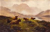 paisaje con vacas by h.r. hall
